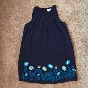 LOFT Embroidered Shift Dress